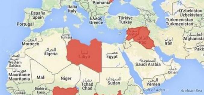 la carte des réfugiés des conflits de 2014