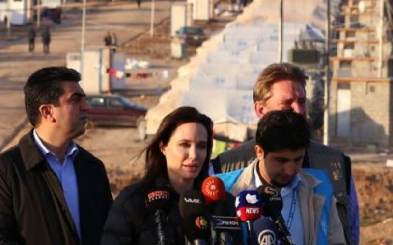 Angelina Jolie dénonce le manque de fonds pour aider les déplacés en Irak
