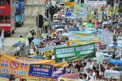 Manifestation pro-démocratie sous haute surveillance à Hong Kong