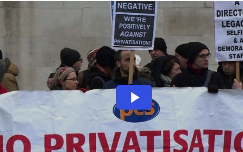 Londres: grève contre la privatisation à la National Gallery (vidéo)
