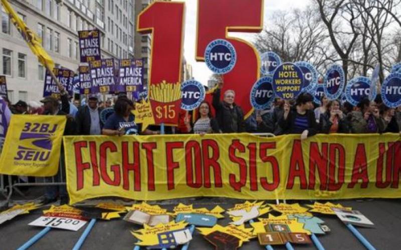 Manifestations aux Etats-Unis pour réclamer une hausse du salaire minimum