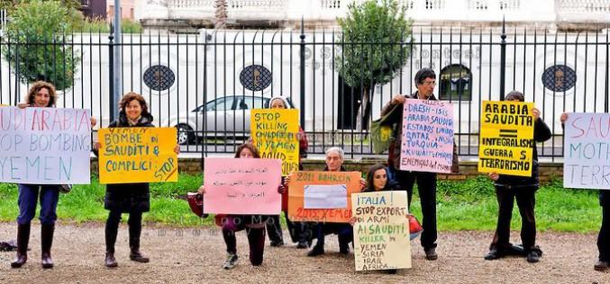 Manifestation à Rom contre l'intervention militaire saoudienne au Yémen