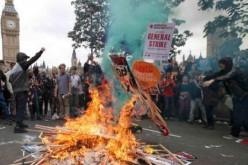 Manifestation anti-austérité à Londres