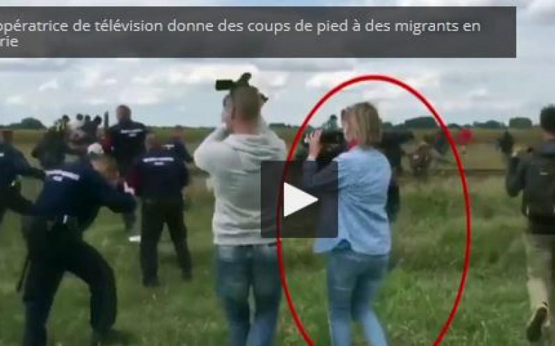 Petra Laszo, la journaliste hongroise qui a frappé des migrants, fera l'objet d'une enquête criminelle -vidéo