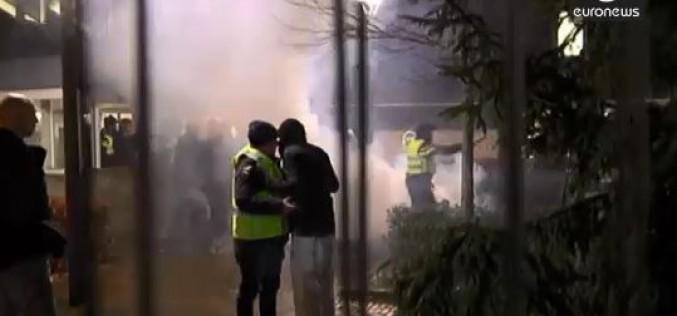 Pays-Bas : Violente manifestation contre un centre de réfugié –vidéo
