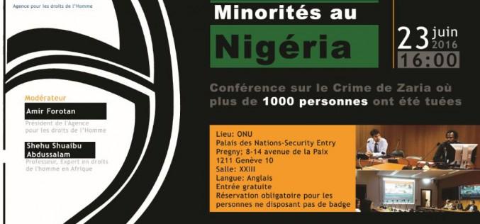 Droits des Minorités au Nigéria, Conférence sur le Crime de Zaria où plus de 1000 personnes ont été tuées