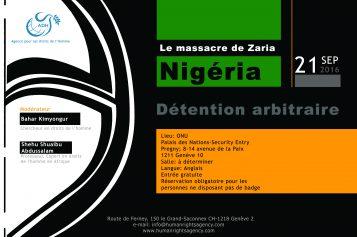 Le Massacre de Zaria  (Détention Arbitraire) 21 septembre 2016