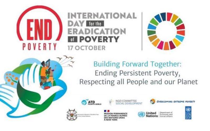 La commémoration virtuelle de la Journée internationale pour l'élimination de la pauvreté (IDEP) 2021