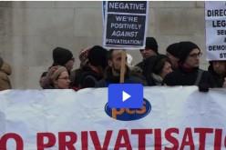 Londres: grève contre la privatisation à la National Gallery (vidéo)