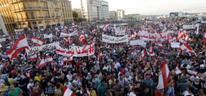 Liban: Des milliers de manifestants à Beyrouth contre le gouvernement
